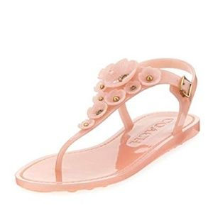 Coach Tea Rose Jelly Flat Sandals Size 7B
